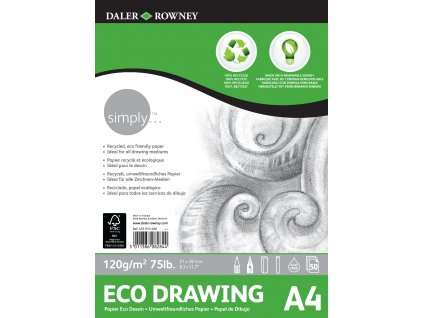 Blok Simply Eco Drawing - 120g/m² - A4