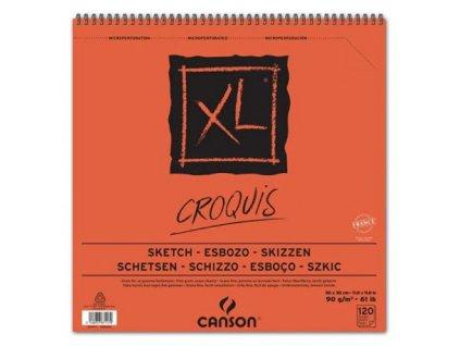 Blok XL - CROQUIS skicák - Canson 90g/m²  30 x 30 cm