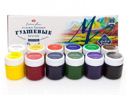 Sada mistrovských barev na kvaš 12x40 ml