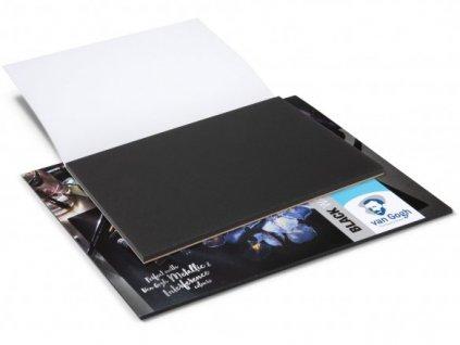 černý akvarelový papír