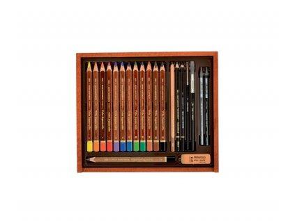 Akvarelová souprava v dřevěné kazetě Koh-i-noor