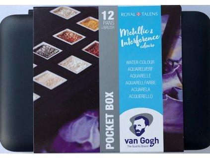 Metalické perleťové akvarelové barvy van Gogh 12 ks