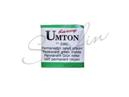 2360 - Akvarelová barva UMTON - Permanentní zeleň střední