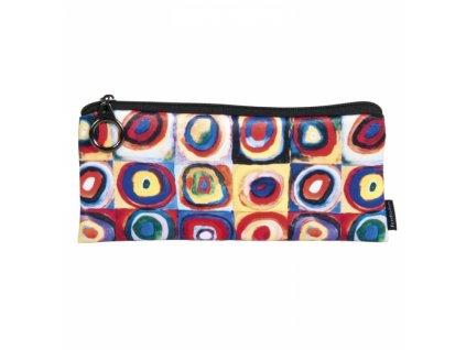 Pouzdro - penál, textil - Kandinsky - Studie barev