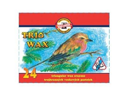 Trojhranné voskovky trojhranné 24 ks - papírová krabička