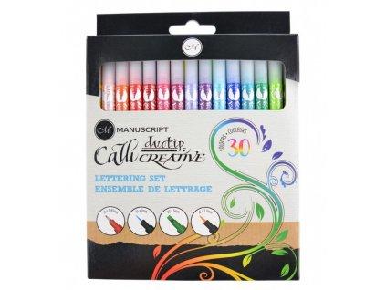 Sada barevných kaligrafických popisovačů Manuscript - 30 ks