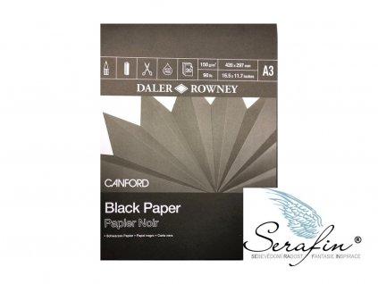 Černý papír v bloku 150g/m Daler Rowney A3
