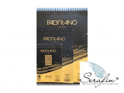 Skicovací papír v bloku Fabriano -90 g/m2 A3