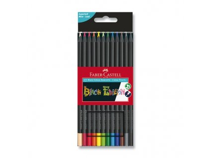 Pastelky Faber-Castell Black Edition - 12 barev