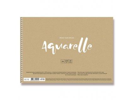 Blok Aquarelle A4, 220 g/m , 20 listů