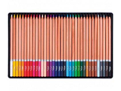 Akvarelové pastelky Nevskaya Palitra - plechová krabička, 36 barev