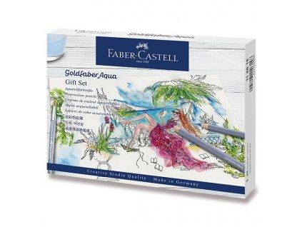 Akvarelové pastelky Faber-Castell Goldfaber Aqua - dárková sada, 18 ks