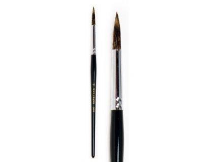 Přírodní štětec veverka s krátkou černou rukojetí 7 velikostí