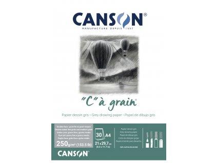 """C"" a grain skicák Canson A 4 250 g/m² šedý"