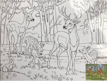 Plátno s motivem  - v lese