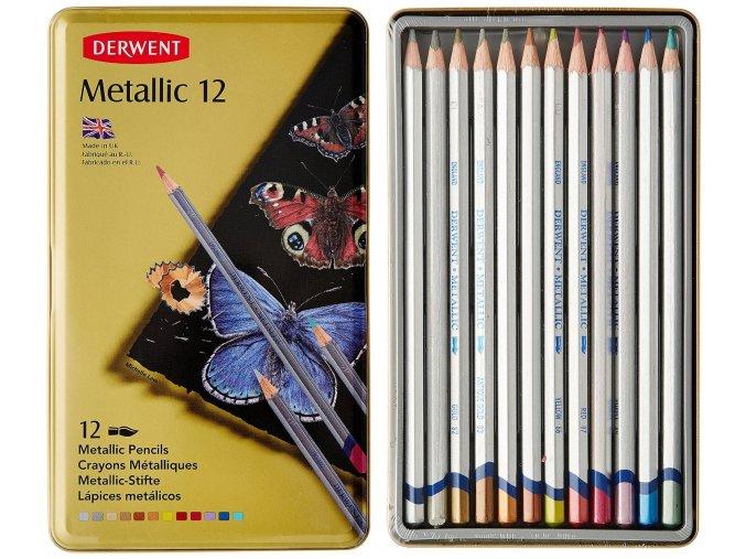 metalické pastelky