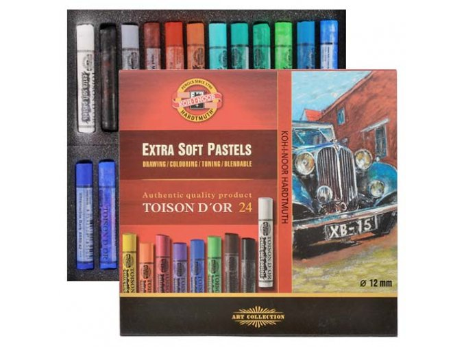 Pastel extra soft Toison D'or KOH-I-NOOR - 24 ks