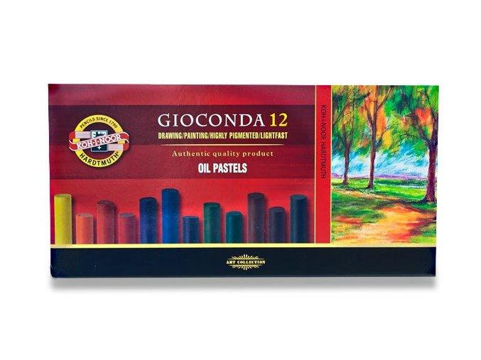Olejový pastel GIOCONDA - 12 ks