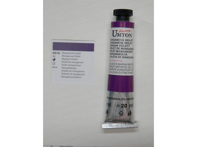 Manganová violeť olejové barvy