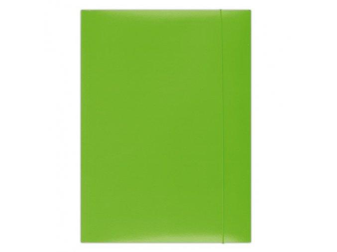 Desky Dox A4/ 3 chlopně s gumou zelené