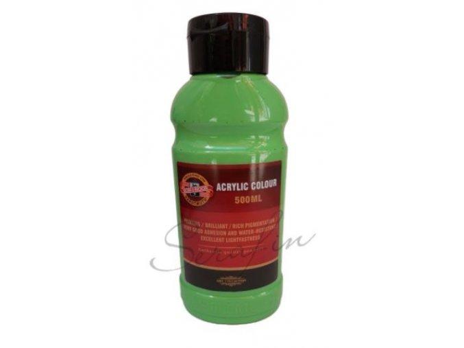 Akrylová barva 500 ml - zeleň světlá 0500