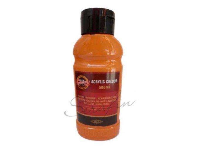Akrylová barva 500 ml - oranžová světlá 0220
