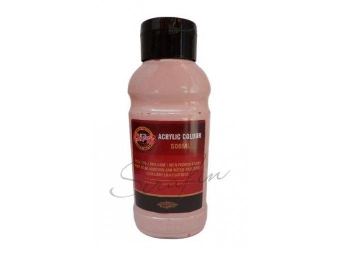 Akrylová barva 500 ml - růžová 0240