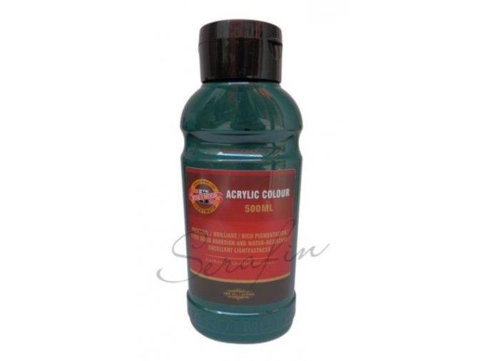 Akrylová barva 500 ml - zeleň tmavá 0510
