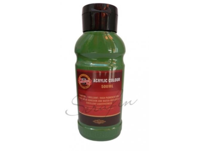 Akrylová barva 500 ml - khaki 0530