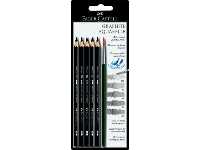 Sada Aquarelle grafitových tužek + štětec
