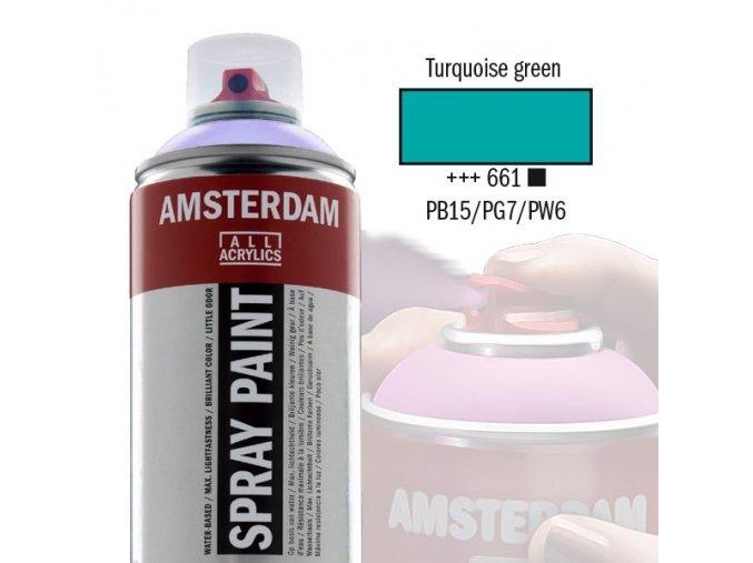 Amstr spray 661 Turquoise green