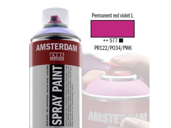 Amstr spray 577 Permanent red violet light