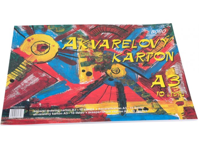 akvarelový karton A3 Bobo blok