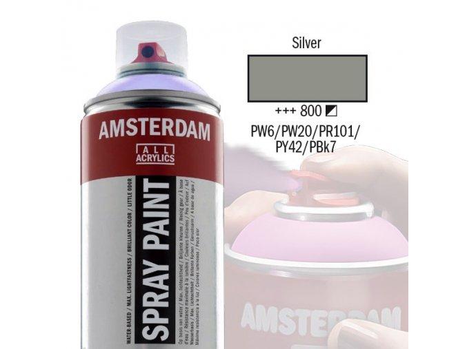 spray acryl amsterdam silver 800