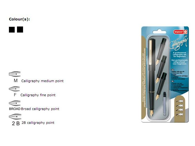 bruynzeel professional calligraphy set