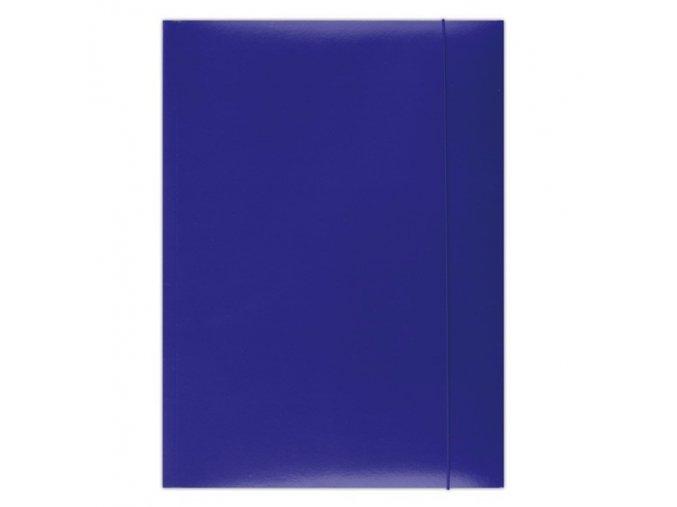 Desky Dox A4/ 3 chlopně s gumou modré