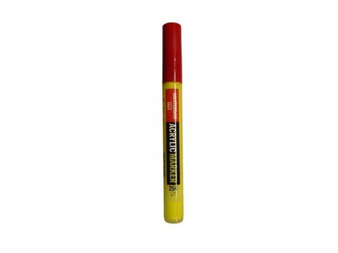 AMSTERDAM Acrylic Marker M - Akrylový fix 4mm - Reflex yellow 256
