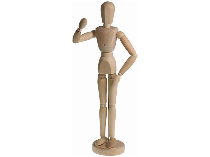 Dřevěný manekýn - muž 30 cm