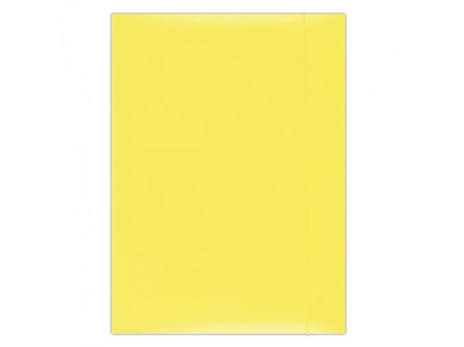 Desky Dox A4/ 3 chlopně s gumou žluté