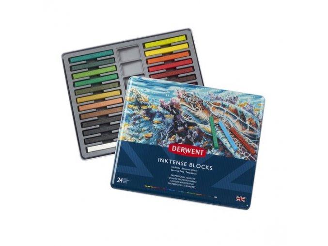 Sada 24 akvarelových bloků Derwent