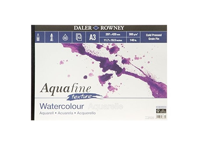 Blok akvarelový Aquafine textura 300g/m² - A3