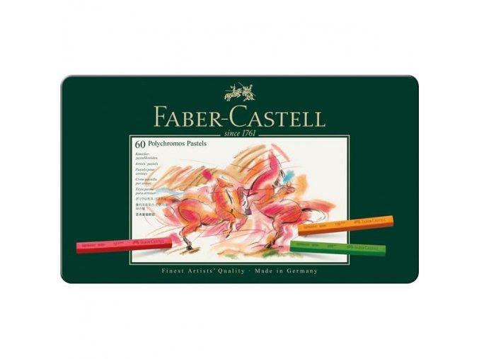 Sada 60 ks pastelů Polychromos Faber Castell v plechovém pouzdře