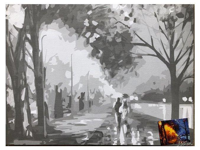 Plátno s motivem -  Noční nábřeží