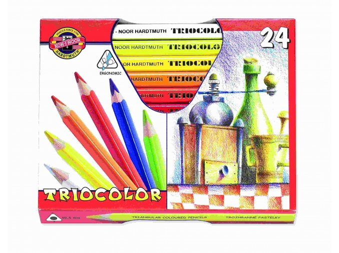 Pastelky TRIOCOLOR - lakované 24 ks