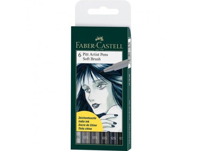 PITT umělecké štětce set 6 - Soft Brush