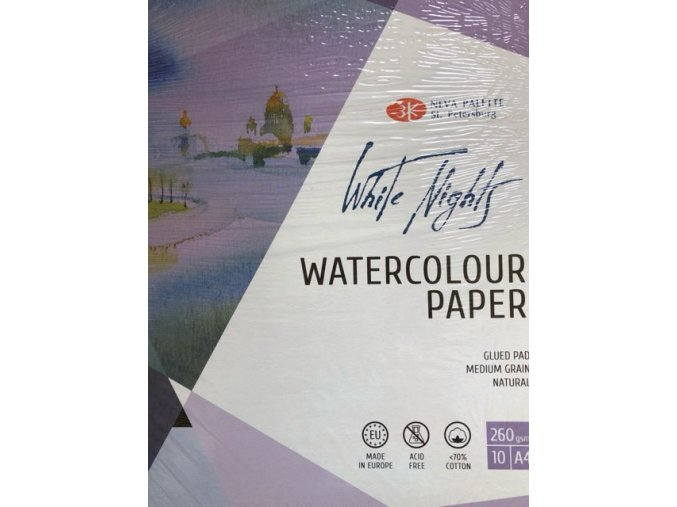 Blok pro akvarel St.Peterburg 70% bavlny 260g