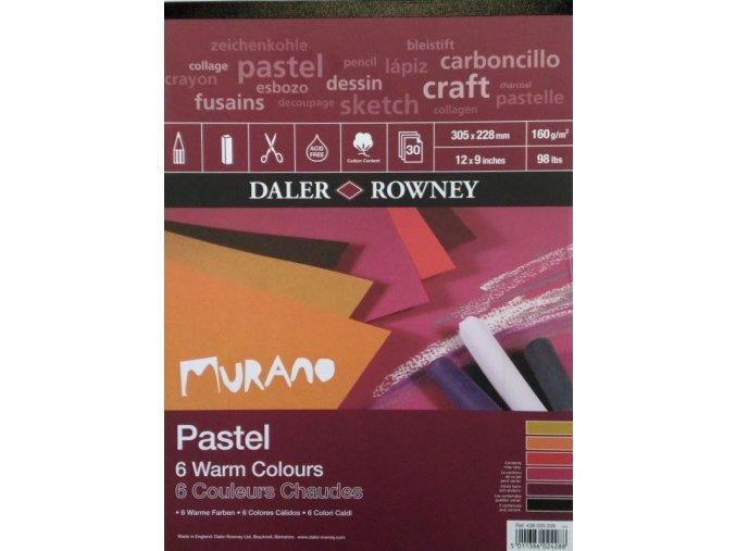 Blok MURANO Warm Colours 160g/m² - A4