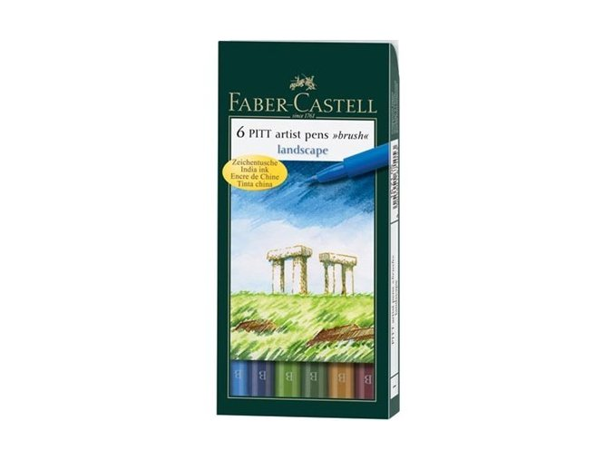 Faber-Castell tušové pera odstíny krajiny