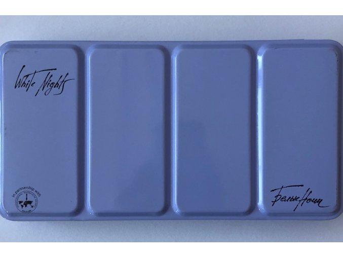 Prázdný obal na akvarelové barvy - metal box