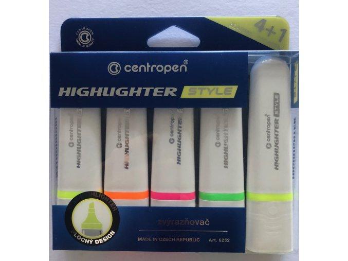 Zvýrazňovač fluo colors 5 ks Centropen